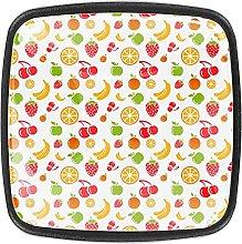 Pomelli colorati in vetro 01 con motivo di frutti