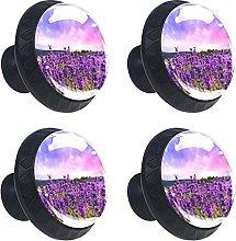 Pomelli per cassetti in cristallo di lavanda