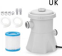Pompa filtro per piscina, standard britannico