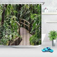 Ponte di legno villaggio albero giungla tropicale