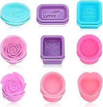 POOPHUNS Stampi Sapone,18 Pezzi Silicone Soap Mold