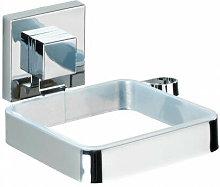 Porta asciugacapelli in acciaio e plex trasparente