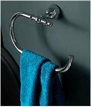 Porta asciugamani anello cromo contea - AXA