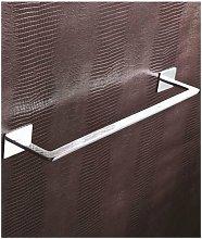Porta asciugamani cromo 55 cm serie flat -
