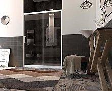 Porta box doccia un lato scorrevole profilo pvc