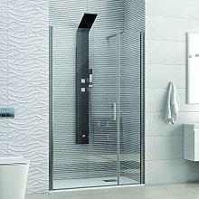 Porta doccia 110cm con battente + fissa ks5000