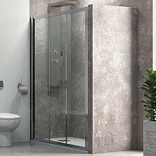 Porta doccia a scorrimento 90cm vetro trasparente