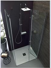 Porta doccia a soffietto angolare anticalcare