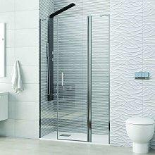 Porta doccia battente 100cm con 2 laterali fissi