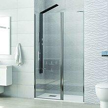 Porta doccia battente 70-75cm con laterale fisso