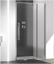 Porta doccia battente pivot 130 cm trasparente zen
