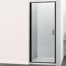 Porta doccia battente swing per box nicchia black