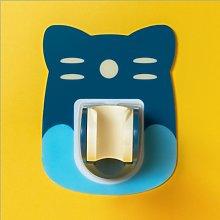 Porta doccia del fumetto del bagno, blu