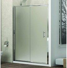 Porta doccia nicchia 100cm vetro satinato