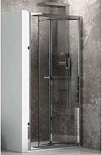 Porta doccia nicchia 85cm apertura a libro vetro