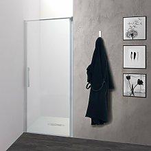 Porta doccia OSLO battente a nicchia 80 cm altezza