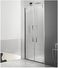 Porta doccia saloon 100 cm trasparente zen zsal -