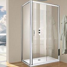 Porta doccia scorrevole per nicchia da 100 cm