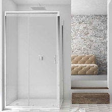 Porta doccia scorrevole per nicchia da 140 cm