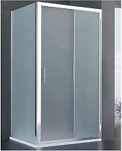 Porta doccia scorrevole Roma cm 120+ lato fisso cm