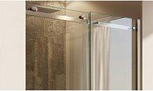 Porta doccia scorrevole trasparente anticalcare