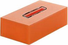Porta Fazzoletti Rettangolare Bagno Rainbow Arancio