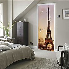 Porta Murale 3D Adesivo Per Porte Torre Eiffel A