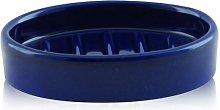Porta sapone da appoggio ovale in ceramica -