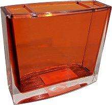 Porta spazzolini arancio - serie chic