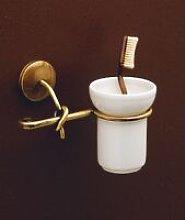 Porta spazzolini bronzo satinato serie retro'