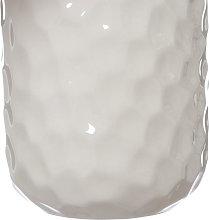 Porta spazzolini golf in ceramica, bianco bianco
