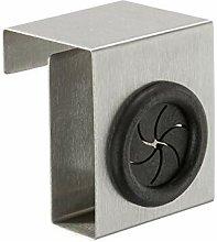 Porta strofinacci sopraporta Push in acciaio inox,