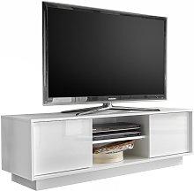 Porta tv di design COMO laccato bianco L138 cm