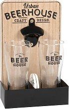 Portabicchieri da birra (x2) in eucalipto e