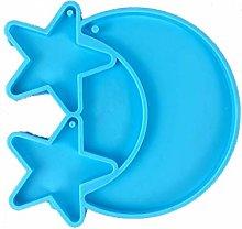 Portachiavi in resina epossidica a forma di stella