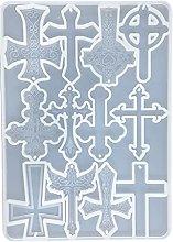 Portachiavi in resina siliconica stampi croce