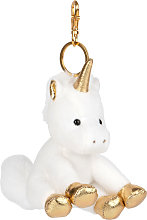 Portachiavi unicorno bianco e dorato