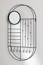 Portagioie da parete con specchio Ord Nero Sklum