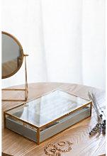 Portagioie in vetro Olena Dorato Sklum