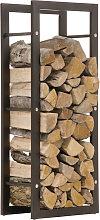 Portalegna legnaia camino CP319 ferro ~ 25x40x150cm