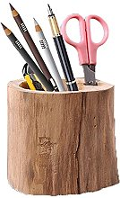 Portapenne in legno fatto a mano, scatola