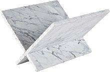 Portariviste in marmo bianco