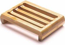 Portasapone in bambù e legno, portasapone in