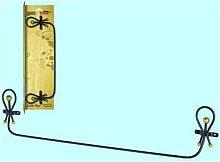 Portasciugamani golden rust ferro battuto cm60