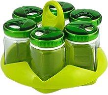 Portaspezie 6 barattolo cc105 tappo verde