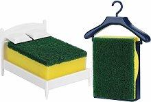 Portaspugne per lavello a forma di letto
