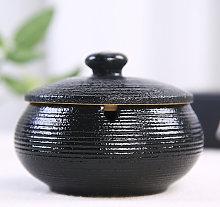 Posacenere in ceramica con coperchio e portacenere