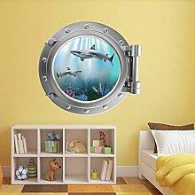 poster Adesivi Adesivo murale con oblò per pesci