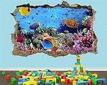 poster Adesivi Adesivo murale con pesci tropicali