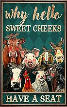 Poster da bagno - Poster di animali da fattoria -